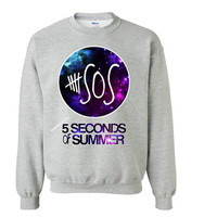 Galaxy Design-5 Seconds of Summer 5 SOS Sweatshirt Gray Inspired Sweater.Calum Luke Michael Ashton band.Please visit 5SOS Shirt 5Sos TankTop
