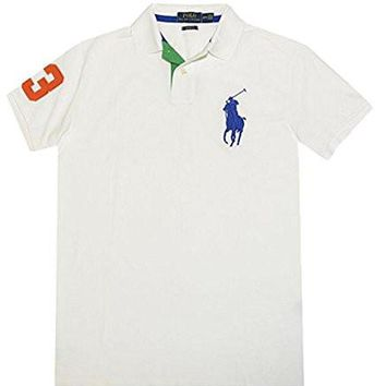 Polo Ralph Lauren Men's Custom Fit Mesh Big Pony Shirt