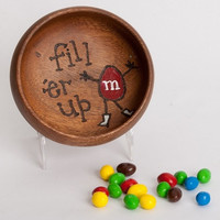 M&M Candy- Inspired FILL ER UP Bowl