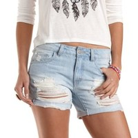 "Refuge ""Boyfriend"" Rolled-Up Denim Shorts"