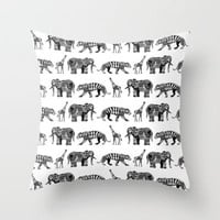 graphic zoo Throw Pillow by Sharon Turner | Society6