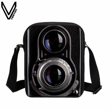 School Backpack 2018 VEEVANV Men Messenger Bags Vintage Camera Printing School Bags Casual Children Fashion School Shoulder Crossbody Bag Small AT_48_3