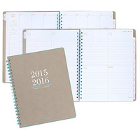 AT A GLANCE Collection WeeklyMonthly Academic Planner 8 38 x 11 Tan July 2015 July 2016 by Office Depot & OfficeMax