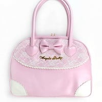 Lacy Boston Bag - Pink [172BG09-180083-pk] - $103.00 : Angelic Pretty USA