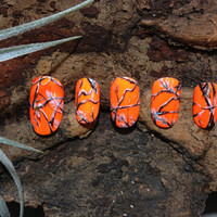 Blaze Orange REALTREE 3D Nails