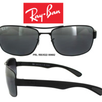 Ray-Ban Sunglasses RB3522 006/82 Steel Man Polarized New & 100% Authentic