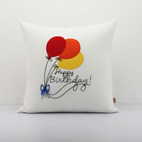 Coloured balloon throw pillow,Baby Décor pillow covers,Bright Colored Balloon's pillowcase,Custom Birthday Gift pillows,Personalized pillow