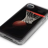 Transparent Snap-On Clear iPhone Cover Case for 4/4S iPhone - Basketball - Height:4.5 Inches X Width: 2.5 Inches X Thickness:0.5 Inches