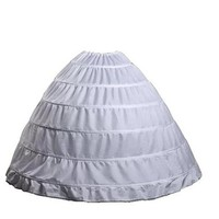 Dqfs 6-Hoops Ball Gown One Layer Crinoline Petticoat Skirt