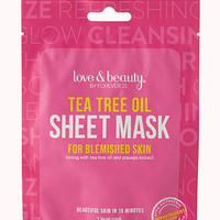 FOREVER 21 Tea Tree Oil Facial Mask Pink/White One