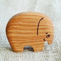 Wooden Baby Lovely Elephant Toy Baby First Toy Animal toys New Baby Teething Toy Safe Infant Toy Teether for new baby Baby shower