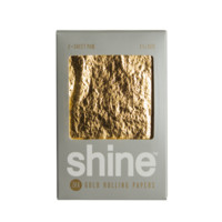 24K Gold Rolling Papers by Shine Papers - Regular Size - 2 Sheet Pack