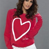 Peace Love World I Am Love Raglan in Tango