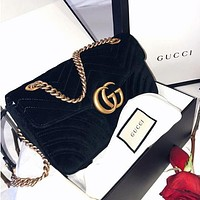 Dior GG Marmont Small Women's Suede Shoulder Bag