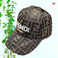 Fendi New fashion embroidery letter couple cap hat 3#