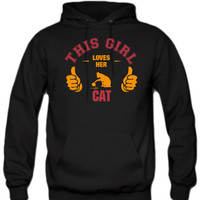 this-girl-loves-her-cat-t-shirt-design hoodie