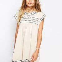 Little White Lies Smock Dress With Embroidery