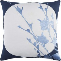 Harvest Moon Throw Pillow Blue, Blue