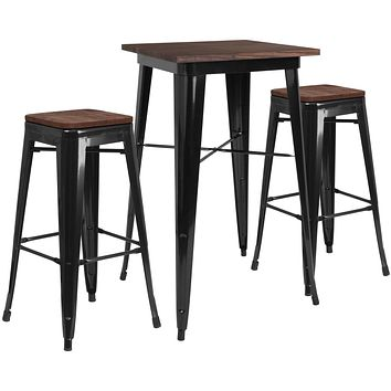 CH-31330B-2-30SQWD Restaurant Furniture Table & Chair Sets