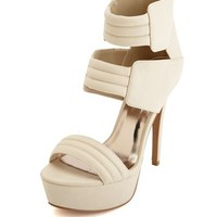 Quilted Strap Zip-Back Pump: Charlotte Russe