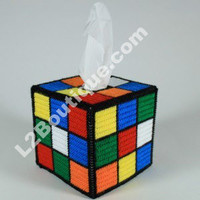 Rubik's Cube Tissue Box Cover like on Big Bang by L2Boutique
