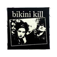 BIKINI KILL Patch Punk Rock Feminist Riot Grrrl