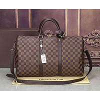Louis Vuitton LV classic old chess board for men and women travel bag