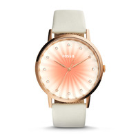 Vintage Muse White Leather Watch