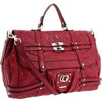 GUESS Lively Top Handle Flap Red - 6pm.com