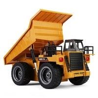 1:18 2.4G 6CH Remote Control Alloy Dump Truck RC truck Big Dump Truck Engineering Vehicles Loaded Sand Car RC Toy For Kids Gift