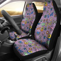 Hippie Pattern Car Seat Covers