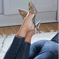 Fashion rhinestone comfortable high heel sandals
