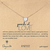 Dogeared Pearls of Love Delicate Necklace