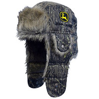 Camo Canvas John Deere Trapper Hat