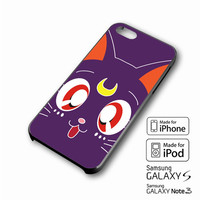 Sailor Moon LUNA Kawaii Cat iPhone case 4/4s, 5S, 5C, 6, 6 +, Samsung Galaxy case S3, S4, S5, Galaxy Note Case 2,3,4, iPod Touch case 4th, 5th, HTC One Case M7/M8