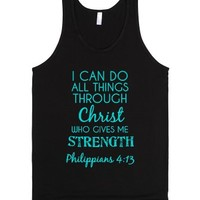 I can do all things through Christ-Unisex Black Tank
