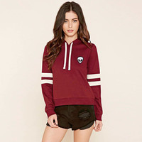 Long Sleeve Hoodies Winter Stripes Alien Hoodies Tops  [9052169860]