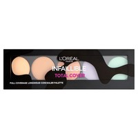 Discover L'Oréal Paris Total camo coverage for up to 24 hrs. Our 1st concealer palette to brighten, correct and neutralise., along with expert make-up tips. Find out what beauty bloggers and consumers say about Infallible Total Cover Concealer Palette.