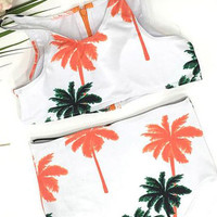 Cupshe Dream State Tropical Tank Bikini Set