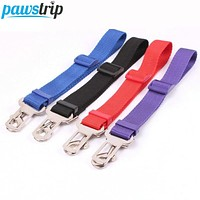 2.5cm Width Nylon Pet Safety Belt  70cm Long Adjustable Vehicle Car Dog Seat Belt Leash