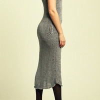Knit Sillver Grey Maxi Spring Dress / Free Shipping / 50% off
