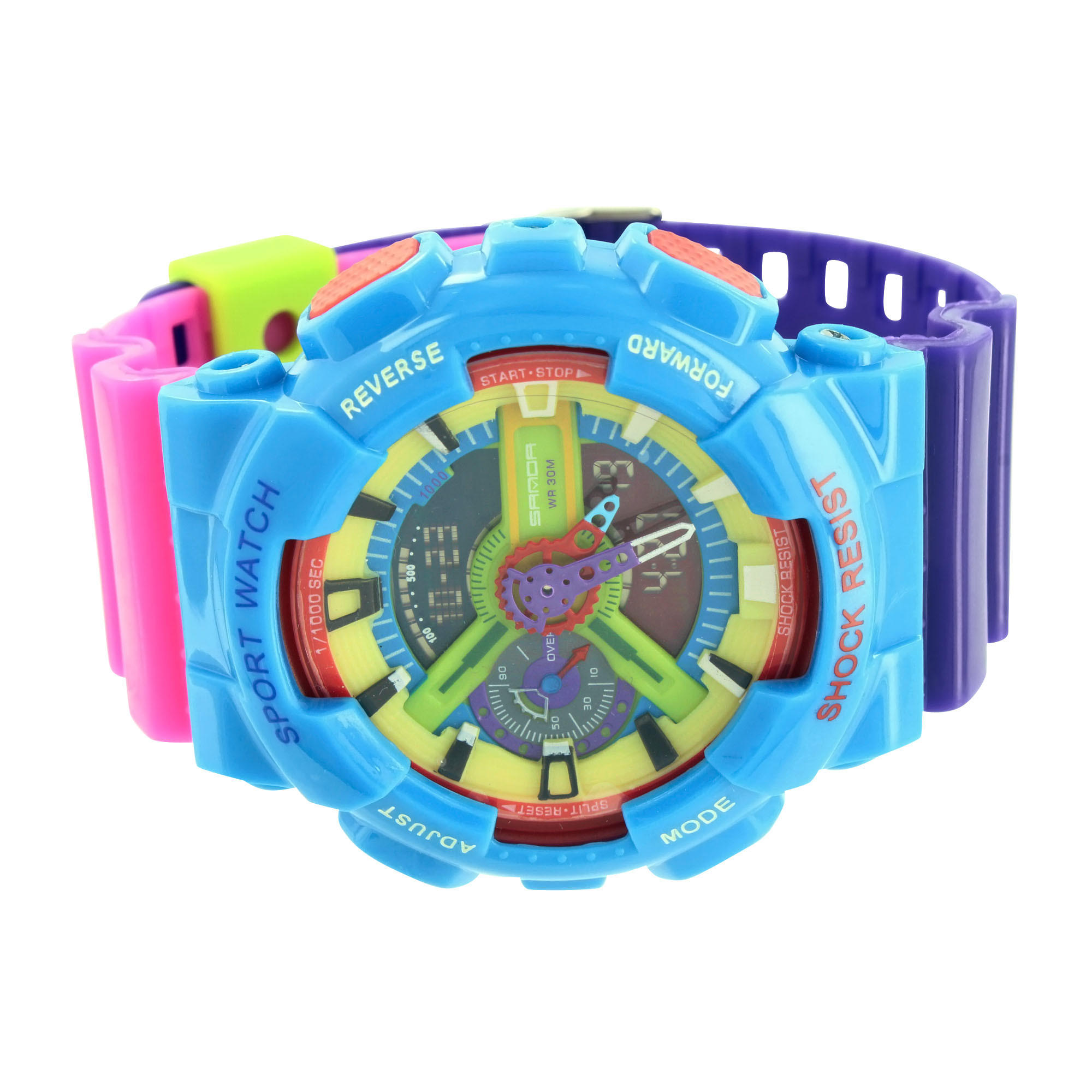 Image of Multi Color Watch Mens Unique Style Analog Digital