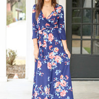 Fit for all occasions maxi dress - Navy