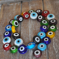 32 Pieces Multi Color Evil Eye Beads, Nazar Beads