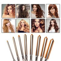 Deep Curly Hair Styler Curls Ceramic Curling Iron Wave Machine Pro Spiral Hair Curlers Rollers Curling Wand