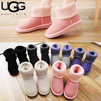 UGG Fashion Women Male Multicolor Wool Snow Boots Shoes
