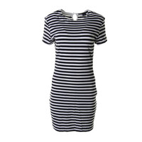 French Connection Womens Sienna Jersey Striped T-Shirt Dress