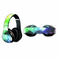 Mightyskins Protective Vinyl Skin Decal Cover for Dr. Dre Beats Studio Headphones wrap sticker skins Colorful Hearts