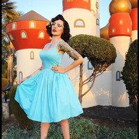 Jenny Dress in Sky Blue | Pinup Girl Clothing