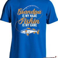 Fishing Gifts For Grandpa Fathers Day T Shirt Fishing Shirt For Men Fisherman Gifts For Dad Grandpa Birthday Gift Men's Tshirt MD-426